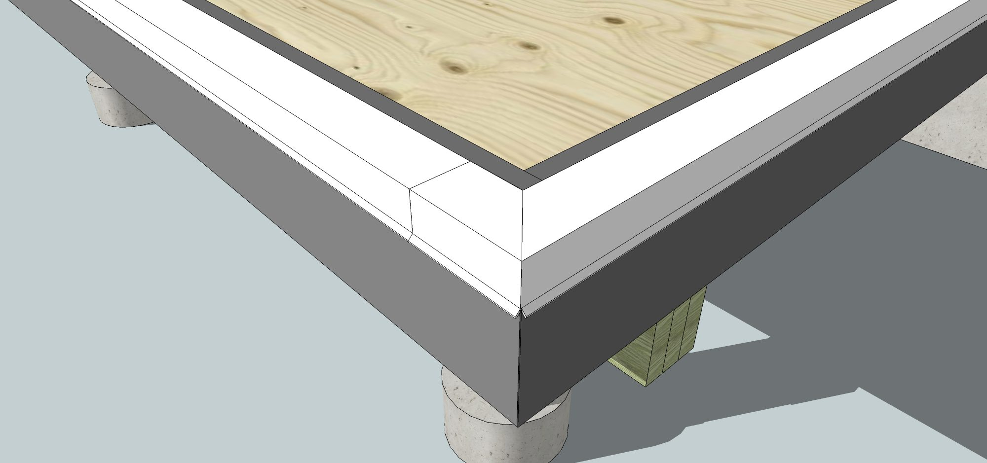 Sunroom Deck Flashing-3