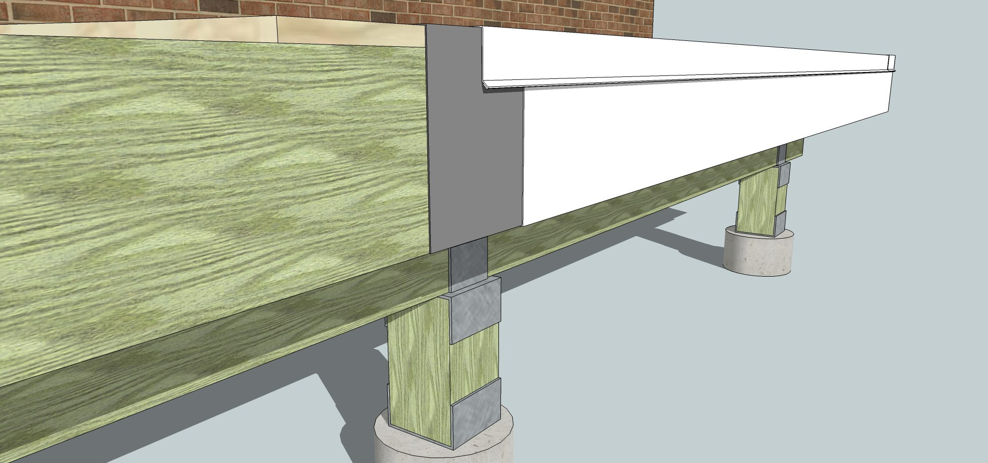 Sunroom Deck Flashing-4
