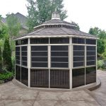 Gazebo With 4 Track Windows