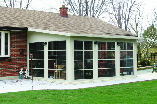Sunroom with Stacking Windows