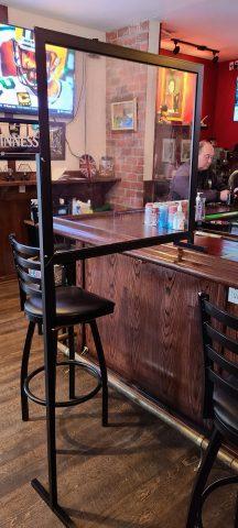 Covid Screen for a Bar Restaurant