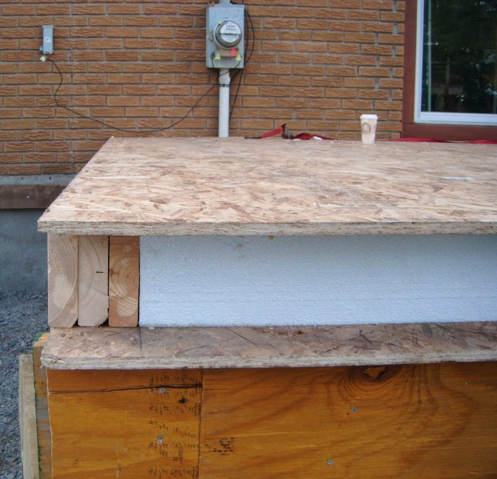 Using SIP panels for sunroom floor